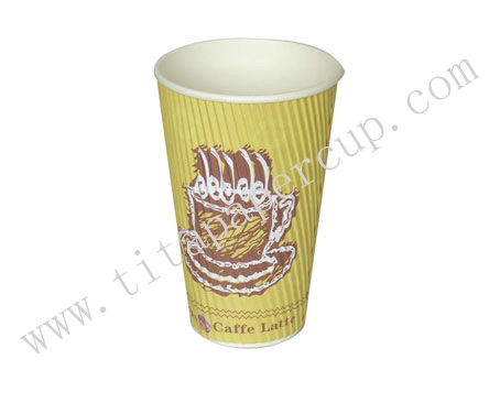 16oz vertical ripple cup