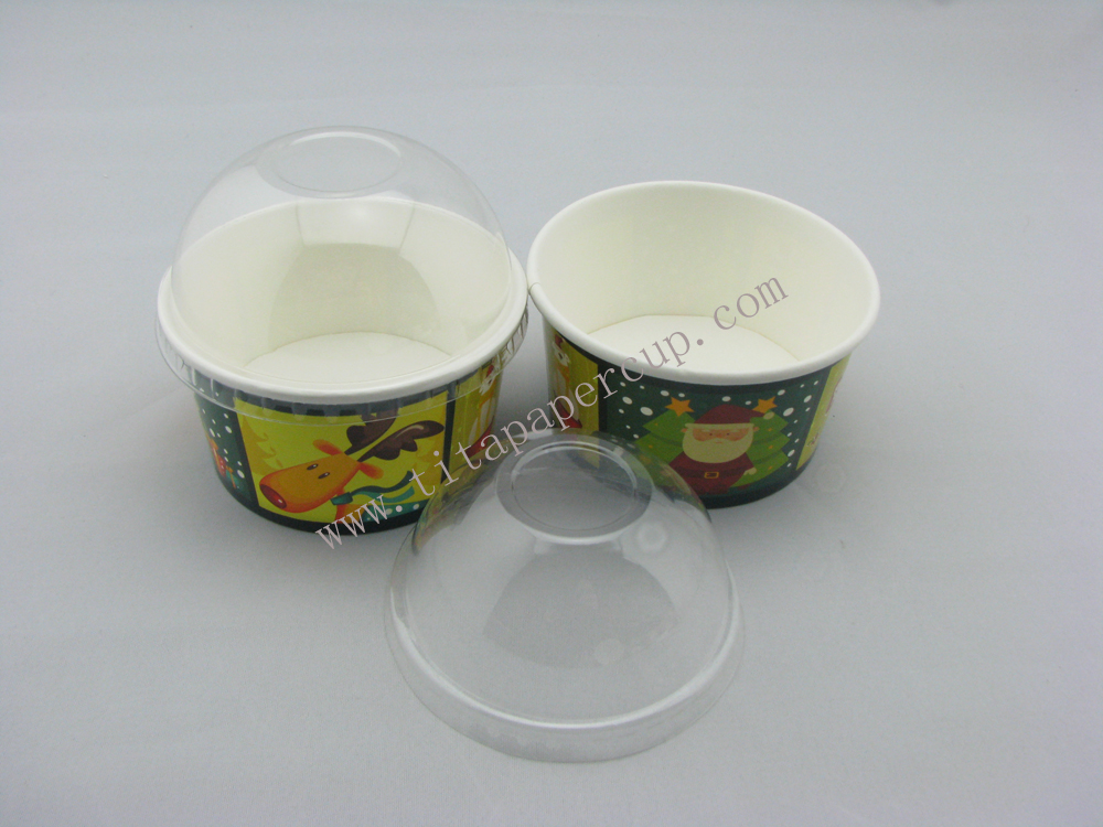 12oz ice cream cup with dome lid